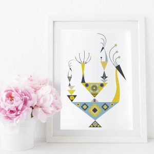 Uramljeni poster Crazy Birds Ginger A4