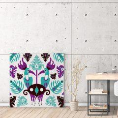 Ilustracija na platnu Toucan Love Aqua 100x100cm