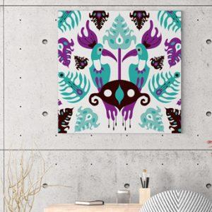Ilustracija na platnu Toucan Love Aqua 50x50cm
