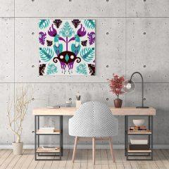 Ilustracija na platnu Toucan Love Aqua 30x30cm