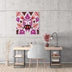 Ilustracija na platnu Toucan Love Pink 30x30cm