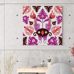 Ilustracija na platnu Toucan Love Pink 50x50cm
