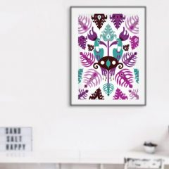Uramljeni poster Toucan Love Aqua A3