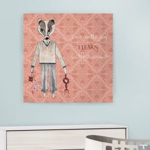 Dečija ilustracija Forest Creatures Badger