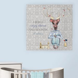Dečija ilustracija na platnu Forest Creatures Deer