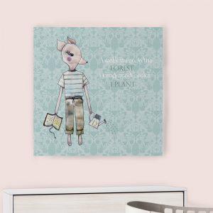 Dečija ilustracija na platnu Forest Creatures Fox