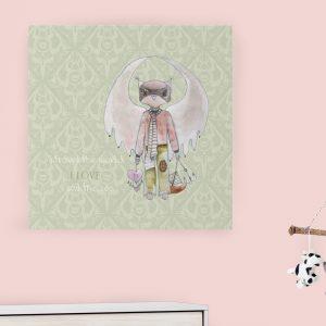 Dečija ilustracija Forest Creatures Owl