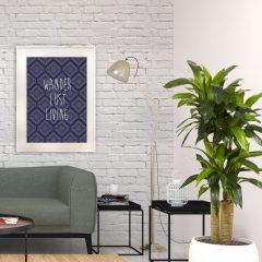 uramljeni poster zidna dekoracija sa ornamentima i natpisom