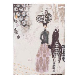 ilustracija na platnu Twiga Pattern Bazaar