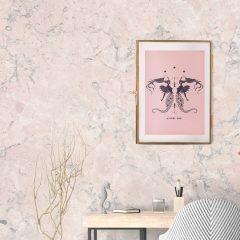 Uramljeni poster Mermaids blush pink A3