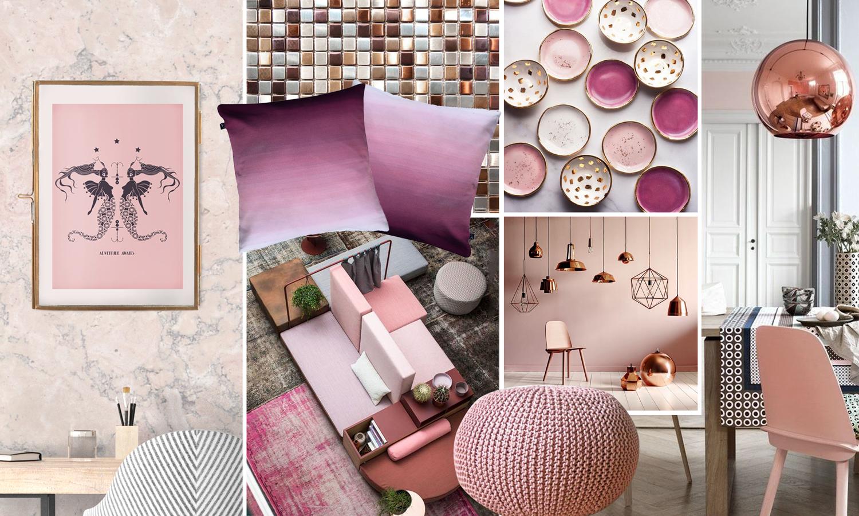 Dekoracija i enterijer rose gold i blush pink