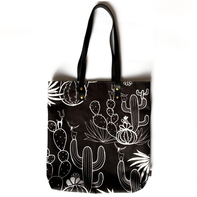 Velika crna torba sa kaktusom