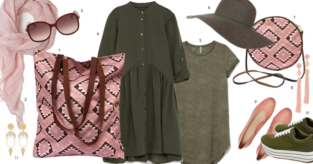 shop the look roze torba