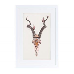 slika poster Boho Antelope Twiga Pattern Bazaar