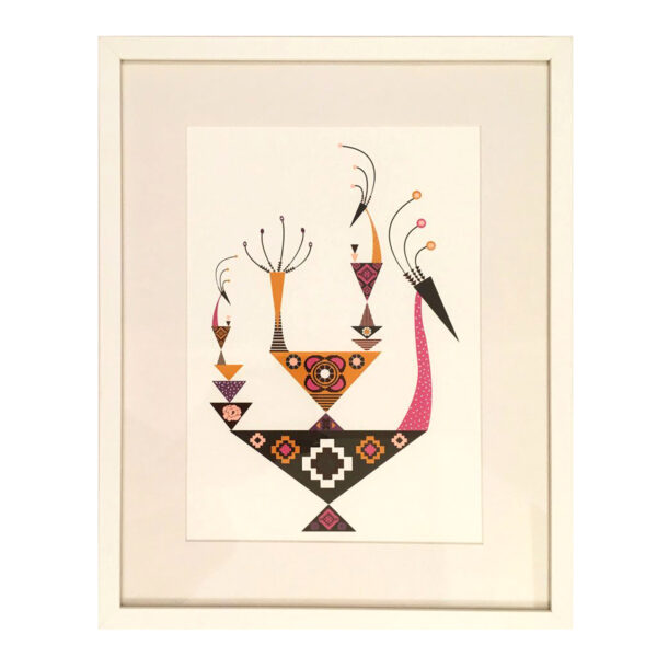 slika poster sa etno motivima Twiga Pattern Bazaar