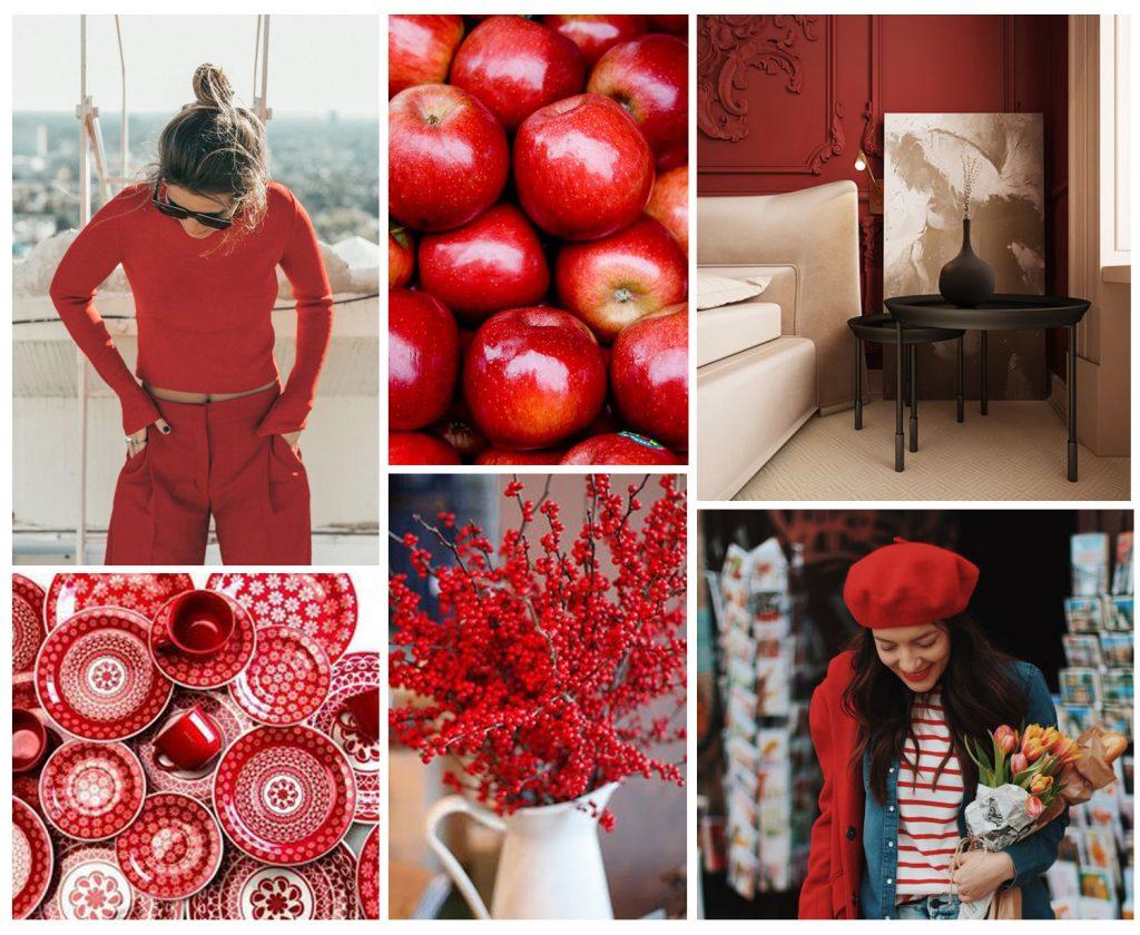 crveno trend enterijer moda