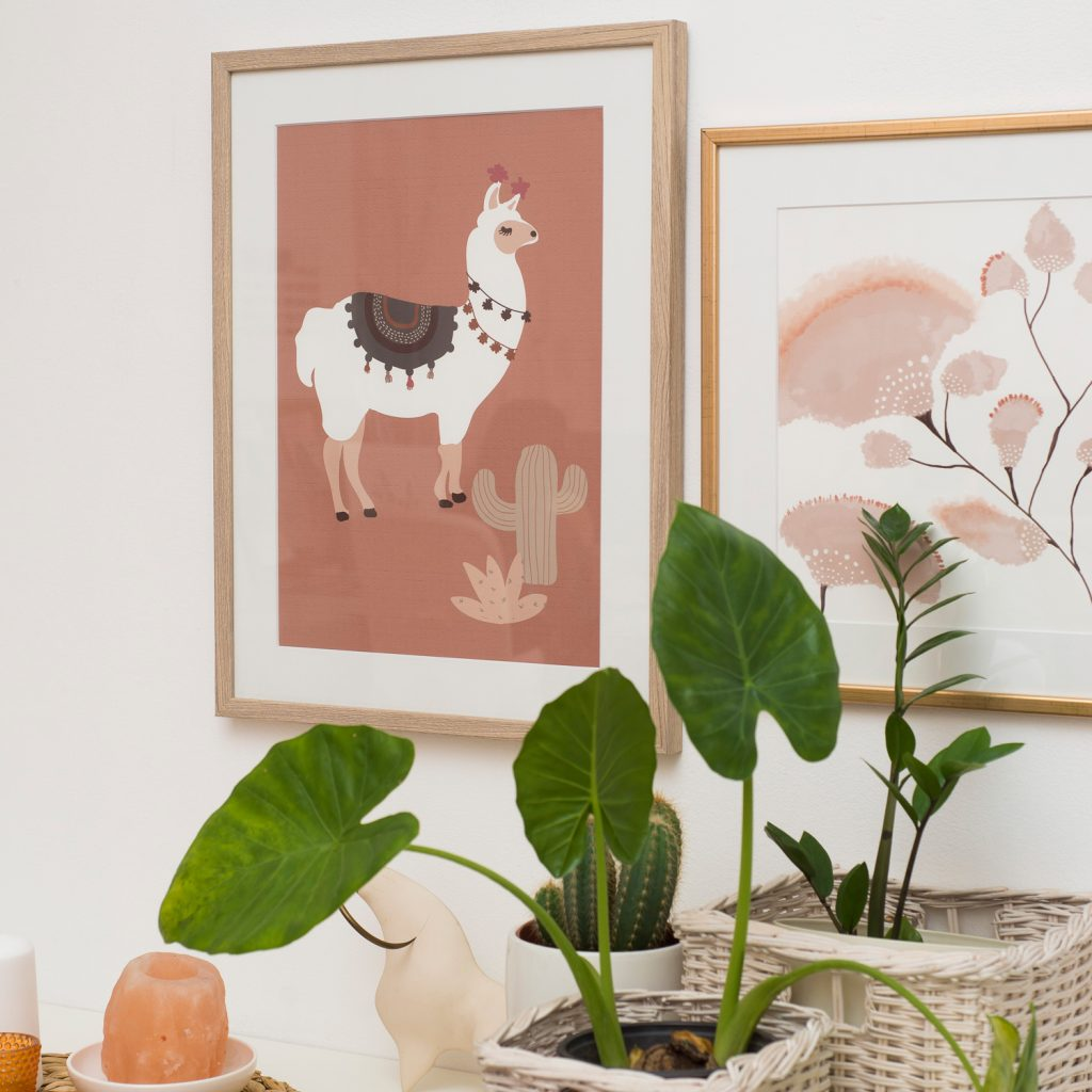 slika poster Lama Twiga Pattern Bazaar