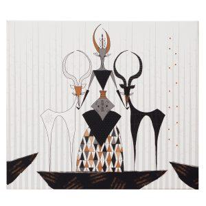 slika ilustracija na platnu Twiga Pattern Bazaar