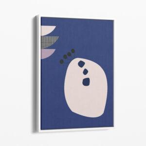 Ilustracija na platnu Organic Blue