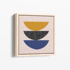 Ilustracija na platnu Tanjirići Blue Ginger